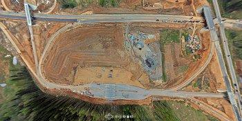Панорама: Строительство М11: развязка на пересечении с А108