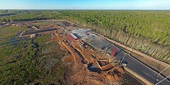 Панорама: Строительство М11: Развязка в Мясном Бору