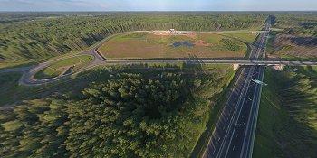 Панорама: Развязка на пересечении платной автомагистрали М11 и дороги Куженкино — Бологое