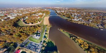 Панорама: Золотая осень в новгородском кремле