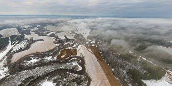 Панорама: Река Полометь в районе деревни Сомёнка