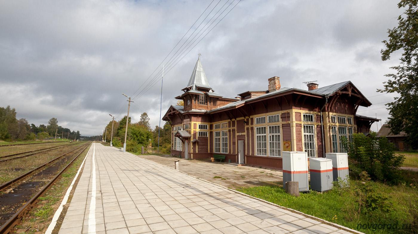 Вокзал станции Куженкино до реконструкции. 2016 год.